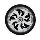 摩托车轮胎轮子 免版税库存照片