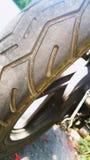 摩托车轮胎 免版税库存图片