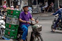 摩托车运输河内 免版税库存图片