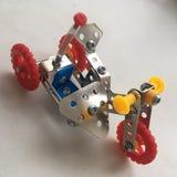 摩托车金属儿童金属的玩具设计师 图库摄影