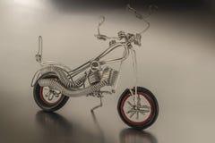 摩托车金属 免版税库存图片