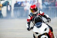 摩托车陈列在布加勒斯特 库存图片