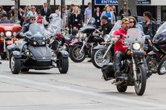 摩托车集会 库存图片