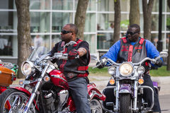摩托车集会 免版税库存照片