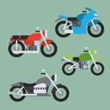 摩托车集合平的设计  向量例证