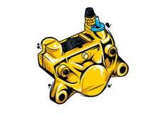 摩托车零件轮尺 免版税图库摄影