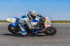 摩托车骑士赛跑 图库摄影