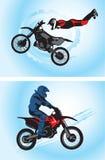 摩托车骑士 免版税库存图片