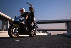 摩托车骑士 免版税图库摄影