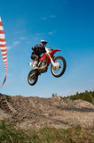 摩托车骑士 库存照片