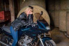 摩托车骑士 图库摄影