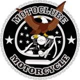 摩托车骑自行车的人赛跑的设计 免版税库存图片