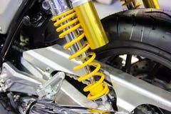 摩托车黄色缓冲器  免版税库存照片