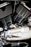 摩托车,技工的部分的细节 图库摄影