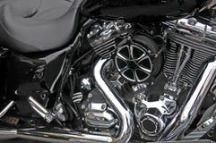 摩托车,技工的部分的细节 库存图片