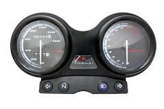 摩托车仪表板。车速表 免版税图库摄影