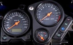 摩托车仪表板 图库摄影