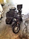 有焦点作用的摩托车 免版税图库摄影