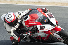 摩托车- ASIER戈麦斯加泰罗尼亚的冠军  图库摄影