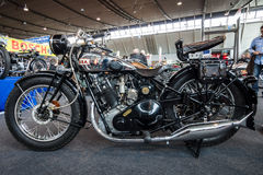 摩托车BSA Sloper, 1931年 免版税库存图片