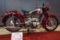摩托车Zuendapp 601, 1952年 免版税库存照片