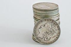 1896摩根美元硬币 库存图片