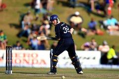 摩根英国板球运动员 免版税库存照片