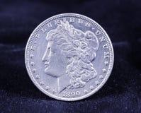 摩根银元1890 图库摄影