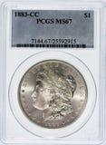 摩根Slver美元1883 CC 图库摄影