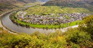 摩泽尔风景和酒村庄厄恩斯特莱茵河流域Pfalz Ge 图库摄影