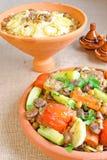 摩洛哥人七tajine蔬菜 库存图片