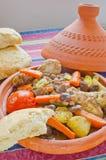 摩洛哥人七tajine蔬菜 免版税图库摄影