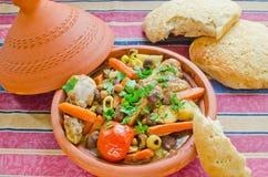 摩洛哥人七tajine蔬菜 库存照片