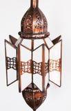摩洛哥人被雕刻的发光设备 免版税库存照片