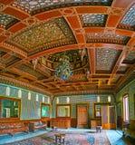 摩洛哥人霍尔设计在Manial宫殿,开罗,埃及 免版税库存图片