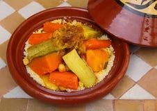 摩洛哥传统巴巴里人tajine 图库摄影