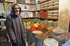 摩洛哥卖主香料 库存照片