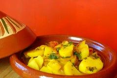 摩洛哥土豆tagine 库存照片
