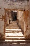摩洛哥小的楼梯村庄 免版税库存照片