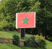 摩洛哥旗子 库存图片