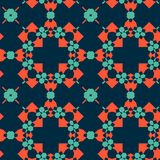 摩洛哥瓦片-无缝的样式 库存例证