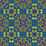 摩洛哥瓦片-明亮的色的无缝的样式 库存照片