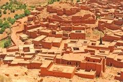 摩洛哥的红色房子 免版税图库摄影