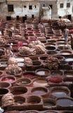 摩洛哥皮革厂 库存图片