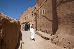 摩洛哥筑了堡垒于城市 免版税图库摄影