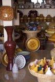 摩洛哥纪念品店 免版税库存图片