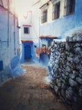 摩洛哥蓝色房子 免版税库存图片