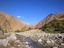 摩洛哥阿特拉斯山脉 库存图片