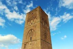 摩洛哥,拉巴特 哈桑国王陵墓在拉巴特塔v对面的mohamed ・摩洛哥 免版税图库摄影