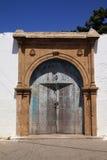 摩洛哥riad门, 免版税库存照片